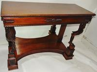 Empire Style Carved Mahogany Console Table (10 of 11)