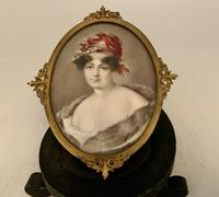 French School Miniature Portrait of 19th Century Lady c.1925 (2 of 5)