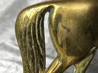 Antique English Victorian Graceful Equestrian Horse Brass Door Stop (18 of 25)