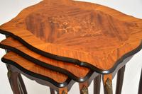 Antique French Inlaid Marquetry Nest of Tables (5 of 9)