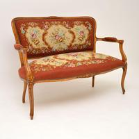 Antique French Needlepoint Salon Two Seater Sofa (4 of 12)