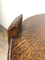 Early 20th Century Antique Oak Circular Side Table with shelf (2 of 9)