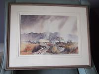 """Bob Wood:  contemporary watercolour """"Peat Smoke in the Highlands"""""""