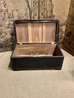 English Regency Leather Camphor Wood Trunk (5 of 5)