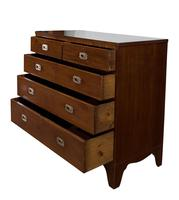 Mahogany Chest of Drawers with military brass handles (5 of 6)