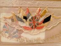 Early 20th century embroidered silk greetings cards (7 of 16)