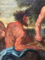 Genre Art 18th Century Oil Painting Classical Figures Musical Recital & Satyrs (12 of 26)