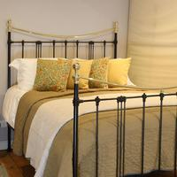 5ft Black Art Nouveau Brass and Iron Bed (3 of 7)