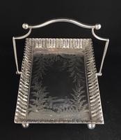 Very Good Victorian Silver Plated Cake / Bread Basket 'The Chelsea' (5 of 6)