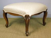 Good Large Victorian Upholstered Stool (4 of 6)