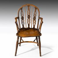 Attractive Matched Set of Six Early 19th Century  Thames Valley Yew Tree Chairs (5 of 5)