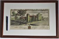 S & N Buck, Tiverton Castle, Devon, 1734, Early Copy Of Antique Print, Framed (6 of 7)