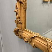 Large Carved Wood Overmantle Mirror (4 of 9)