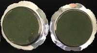Pair of Victorian Silver Plate on Copper Bottle Coasters (5 of 6)