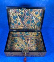 William IV Burr Maple & Rosewood Jewellery Box (10 of 12)