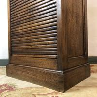 Antique French Tambour Fronted Oak Filing Cabinet (5 of 10)