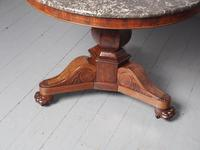 French Marble Top Gueridon Circular Centre Table (7 of 8)