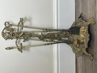 Victorian Brass Hunting Dog Fire Companion Set (2 of 40)