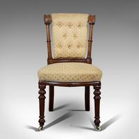 Set of 4 Antique Chairs, Scottish, Walnut, Suite, Dining, Victorian c.1890 (6 of 12)