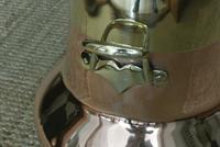 19th Century Dutch Copper & Brass Ash Bucket 'Doofpot' Peat Castellated Seam (4 of 9)