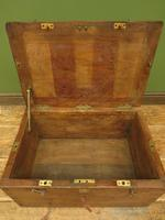 Antique Oak Chest, Early 19th Century Storage Chest for Weights, Lockable (9 of 21)