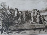 "Robert Walker Macbeth Scottish Etching ""The Ferry"" 1880 (4 of 4)"