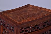 Nest of 3 Chinese Qing Dynasty Rosewood & Burr Wood Tables (3 of 11)