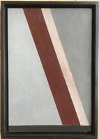 Original oil on board'Linear forms' by John Firth 1921-1998. Initiated and dated 65
