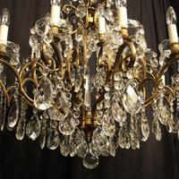 Italian Gilt & Crystal 22 Light Antique Chandelier (7 of 8)