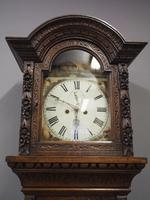 Flemish Carved Oak Grandfather Clock (2 of 13)