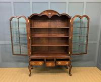 Burr Walnut Dome Topped Bookcase (12 of 18)
