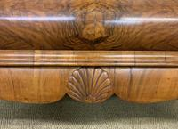 Burr Walnut Dome Topped Display Cabinet (3 of 21)