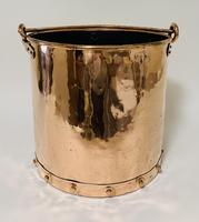 Antique Riveted Copper Bucket (3 of 14)