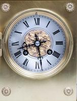 French Belle Epoque Brass Mantel Clock by Japy Freres (6 of 7)