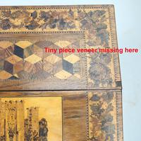 A Superior Tunbridge Ware Fitted Lap Desk Hever Castle C. 19thc (14 of 14)