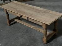 Large French Bleached Oak Coffee Table (13 of 14)