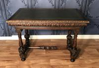 Victorian Carved Oak Library Table (18 of 25)