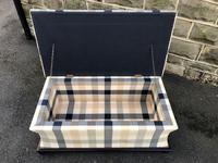 Mahogany Upholstered Sarcophagus Blanket Box (6 of 8)