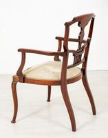 Very Pretty Art Nouveau Mahogany Elbow Chair (4 of 10)