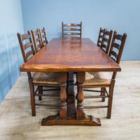 Refectory Table and 8 Ladderback Chairs (3 of 11)