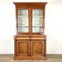 Antique Victorian Mahogany Glazed Bookcase