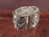Antique Cast Silver Shaped Table Box (7 of 8)