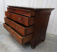 Antique Walnut Marble Top Chest of Drawers (2 of 9)