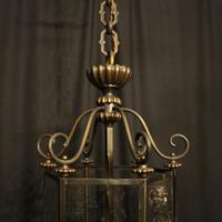 French Hexagonal Triple Light Hall Lantern (5 of 10)