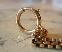 Antique Pocket Watch Chain 1890s Victorian French Large 10ct Rose Gold Filled  Albert (10 of 12)