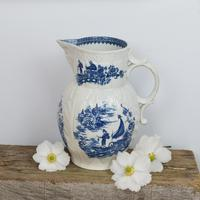 Caughley Porcelain Mask Jug Fisherman & Cormorant Pattern (13 of 13)