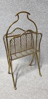 Edwardian Brass Magazine Rack