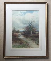 Henry John Sylvester Stannard Watercolour ' Farmer on Horse in Country Landscape' (2 of 2)