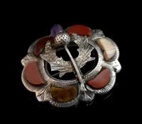 Antique Scottish silver and agate brooch, Amethyst thistle (6 of 10)
