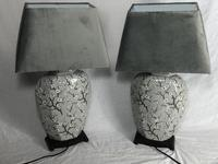 Pair Chinese Cantonese Porcelain Table Lamps With Shades Lighting Christmas Gift (49 of 51)